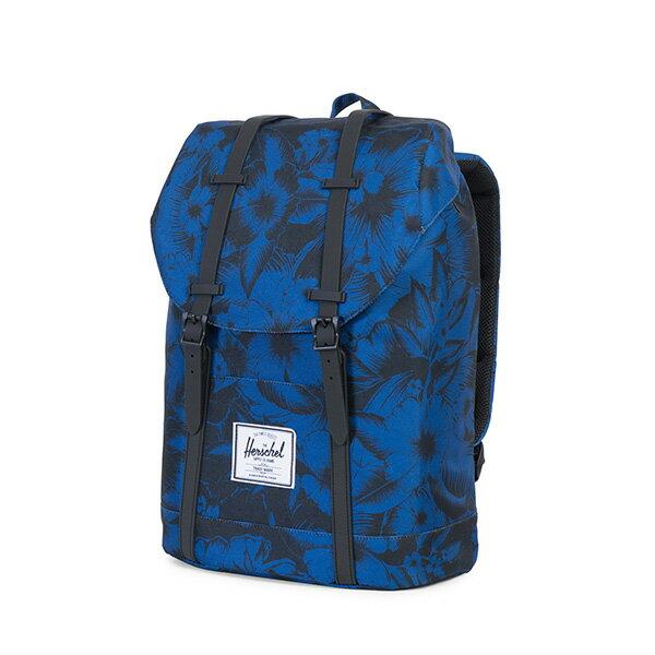 【EST】HERSCHEL RETREAT 15吋電腦包 後背包 叢林 花卉 藍 [HS-0066-A56] G0706 2
