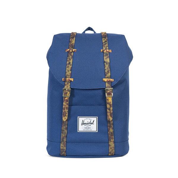 【EST】HERSCHEL RETREAT 15吋電腦包 後背包 玳瑁 膠條 藍 [HS-0066-B55] G0801 0