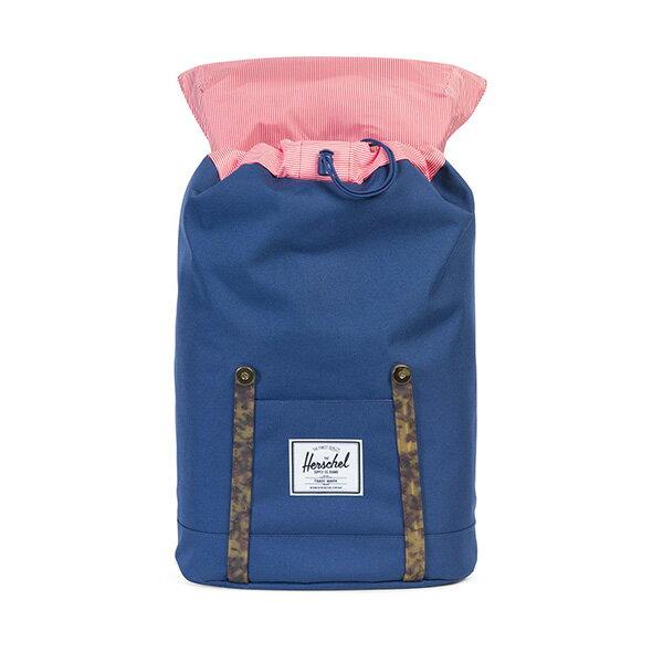【EST】HERSCHEL RETREAT 15吋電腦包 後背包 玳瑁 膠條 藍 [HS-0066-B55] G0801 1