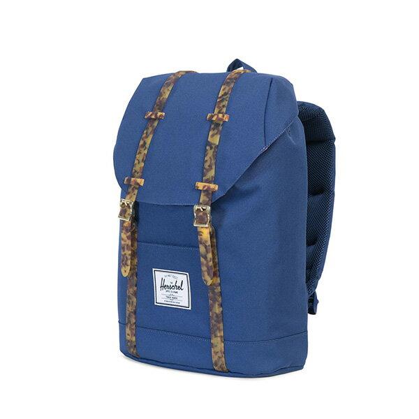 【EST】HERSCHEL RETREAT 15吋電腦包 後背包 玳瑁 膠條 藍 [HS-0066-B55] G0801 2