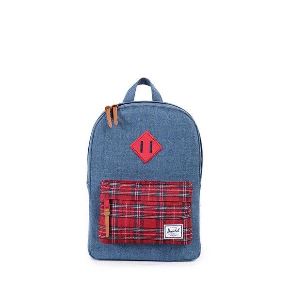 【EST】HERSCHEL HERITAGE KIDS 兒童 後背包 拼接 格紋 藍 [HS-0073-738] G0706 0