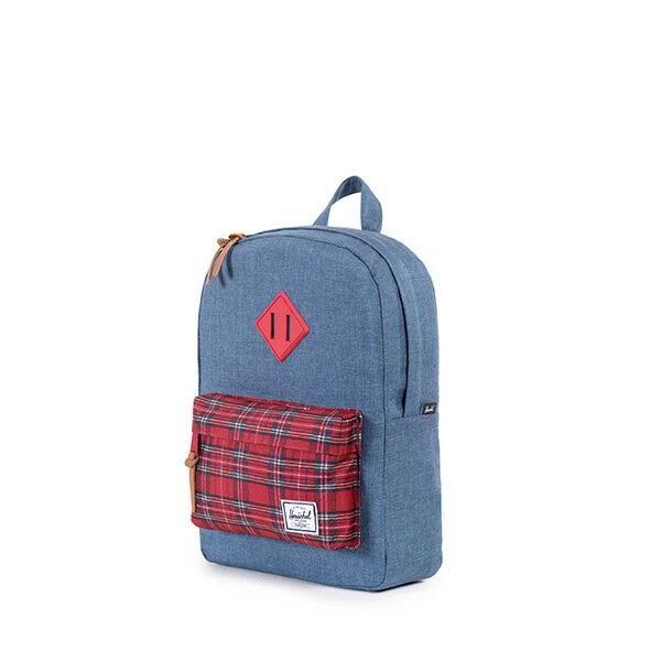 【EST】HERSCHEL HERITAGE KIDS 兒童 後背包 拼接 格紋 藍 [HS-0073-738] G0706 2