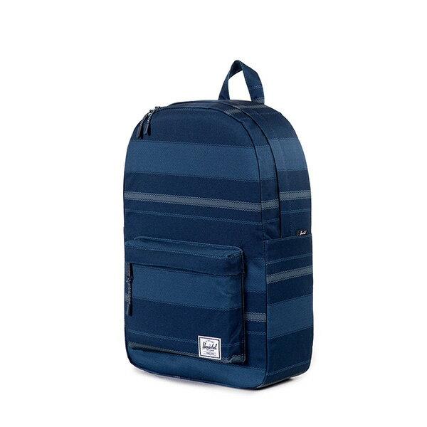 【EST】Herschel Classic Mid 中款 後背包 深條紋 藍 [HS-0135-925] G0122 2