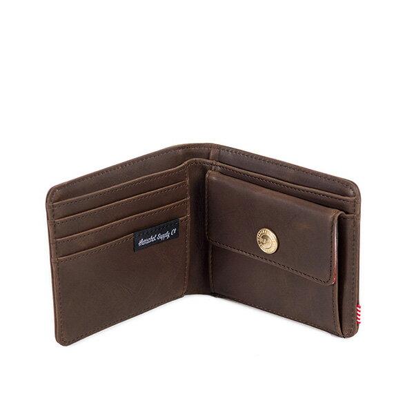 【EST】Herschel Hank Coin Wallet 短夾 皮夾 零錢包 皮革 棕 [HS-0149-037] G0122 2