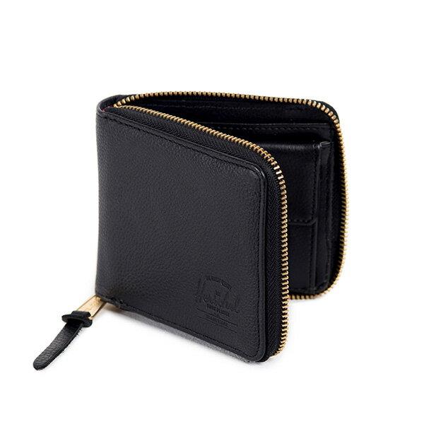【EST】HERSCHEL WALT WALLET 拉鍊 短夾 皮夾 零錢包 皮革 黑 [HS-0153-004] G0414 1