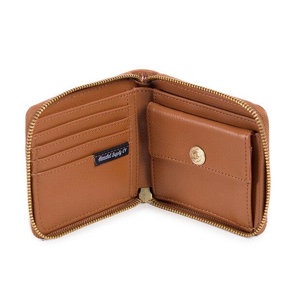 【EST】HERSCHEL WALT WALLET 拉鍊 短夾 皮夾 零錢包 皮革 褐 [HS-0153-034] G0414 2