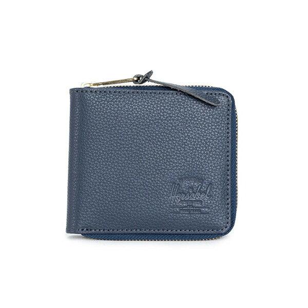 【EST】HERSCHEL WALT 拉鍊 短夾 皮夾 零錢包 皮革 藍 [HS-0153-776] G0414