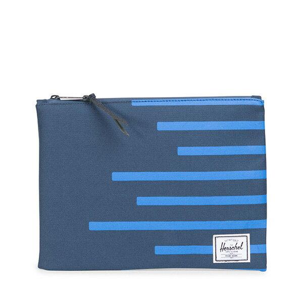 【EST】HERSCHEL NETWORK L 手拿包 收納包 OFFSET系列 條紋 藍 [HS-0163-A42] G0706 0