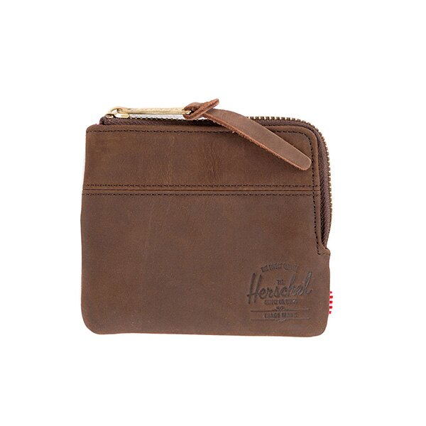 【EST】Herschel Johnny Wallet 皮革 小皮夾 零錢包 棕 [HS-0172-037] G0122 0