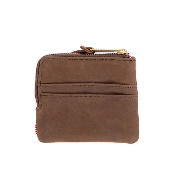 【EST】HERSCHEL JOHNNY WALLET 皮革 小皮夾 零錢包 棕 [HS-0172-037] G0122 1