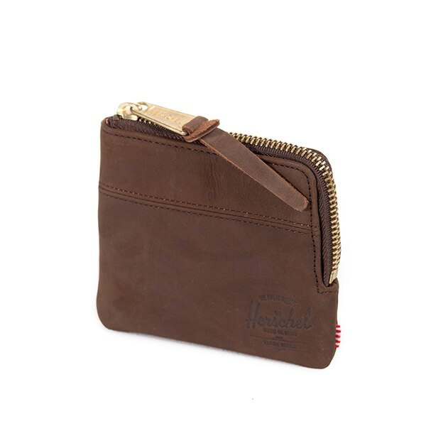 【EST】Herschel Johnny Wallet 皮革 小皮夾 零錢包 棕 [HS-0172-037] G0122 2