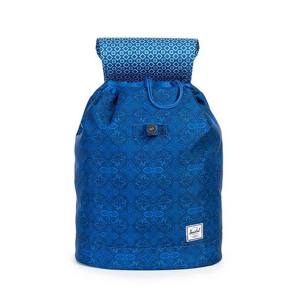 【EST】HERSCHEL REID MID 中款 束口 扣式 後背包 印花 藍 [HS-0184-921] G0122 1