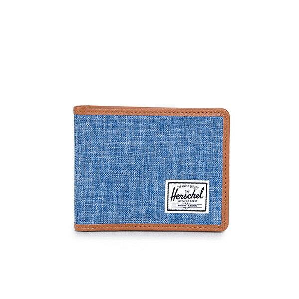 【EST】HERSCHEL TAYLOR WALLET 短夾 皮夾 錢包 滾邊 丹寧 藍 [HS-0198-927] G0122 0