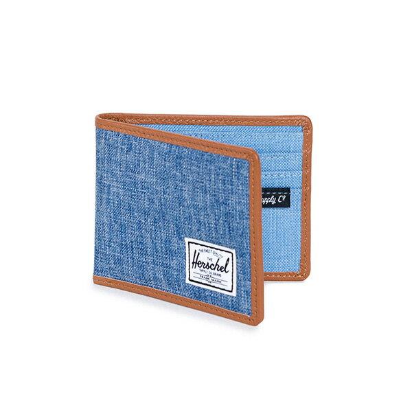 【EST】HERSCHEL TAYLOR WALLET 短夾 皮夾 錢包 滾邊 丹寧 藍 [HS-0198-927] G0122 1