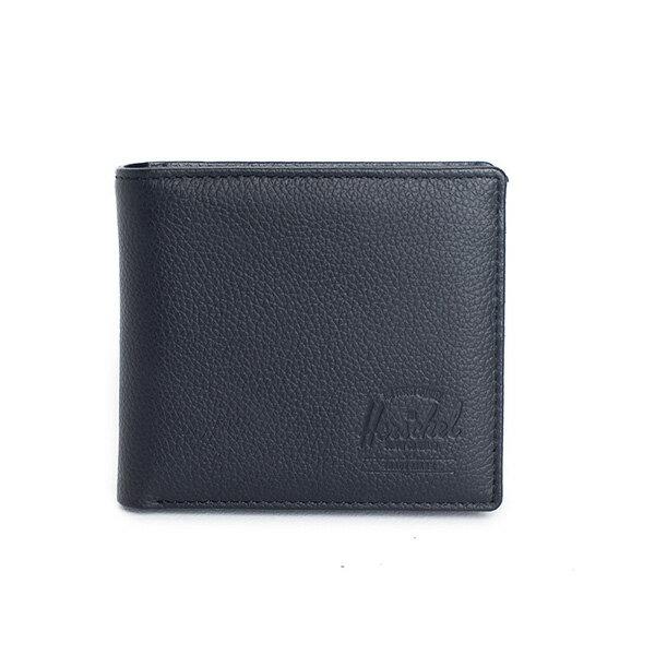 【EST】HERSCHEL HANK LARGE WALLET 短夾 皮夾 零錢包 皮革 黑 [HS-0199-004] G0122 0