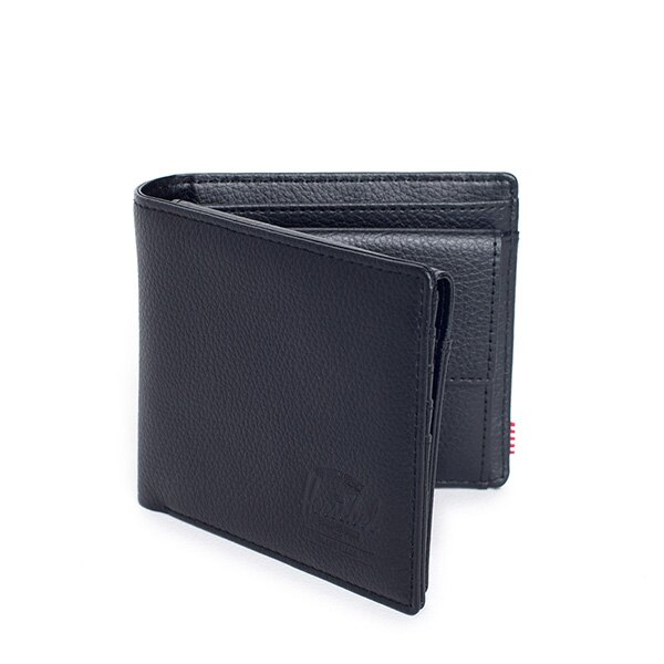【EST】HERSCHEL HANK LARGE WALLET 短夾 皮夾 零錢包 皮革 黑 [HS-0199-004] G0122 1