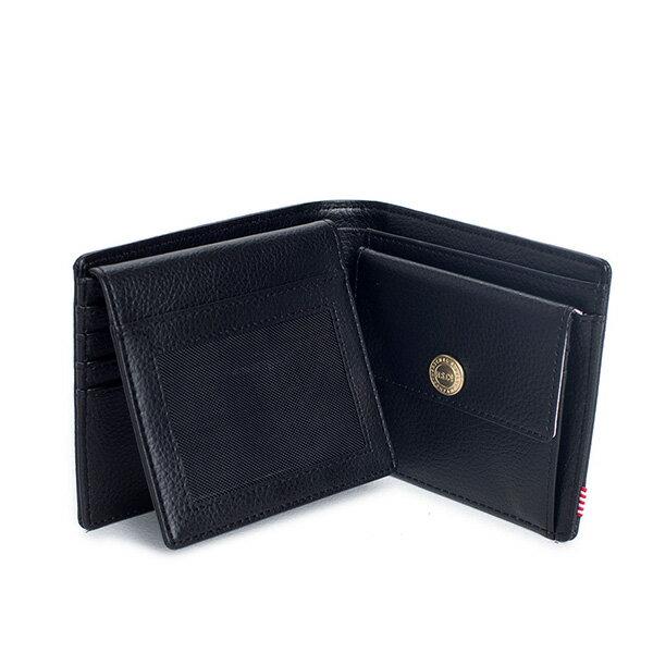 【EST】HERSCHEL HANK LARGE WALLET 短夾 皮夾 零錢包 皮革 黑 [HS-0199-004] G0122 2