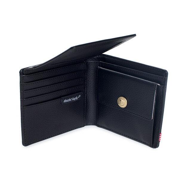 【EST】HERSCHEL HANK LARGE WALLET 短夾 皮夾 零錢包 皮革 黑 [HS-0199-004] G0122 3