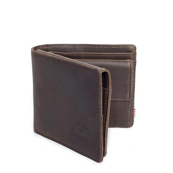 【EST】HERSCHEL HANK LARGE WALLET 短夾 皮夾 零錢包 皮革 棕 [HS-0199-037] G0122 1