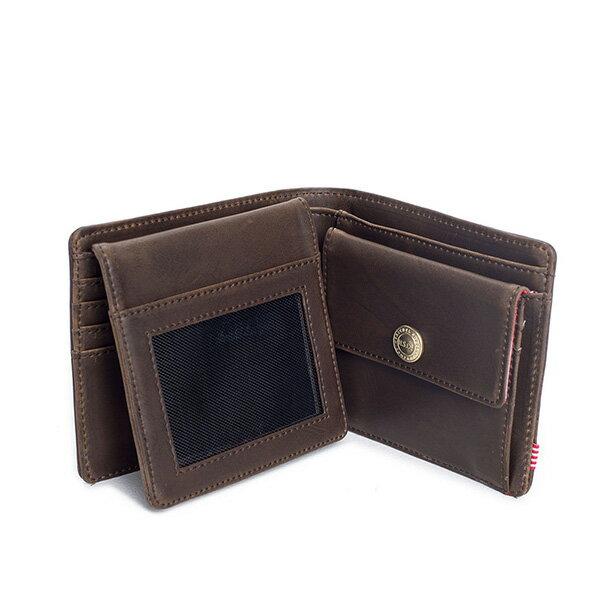 【EST】HERSCHEL HANK LARGE WALLET 短夾 皮夾 零錢包 皮革 棕 [HS-0199-037] G0122 2