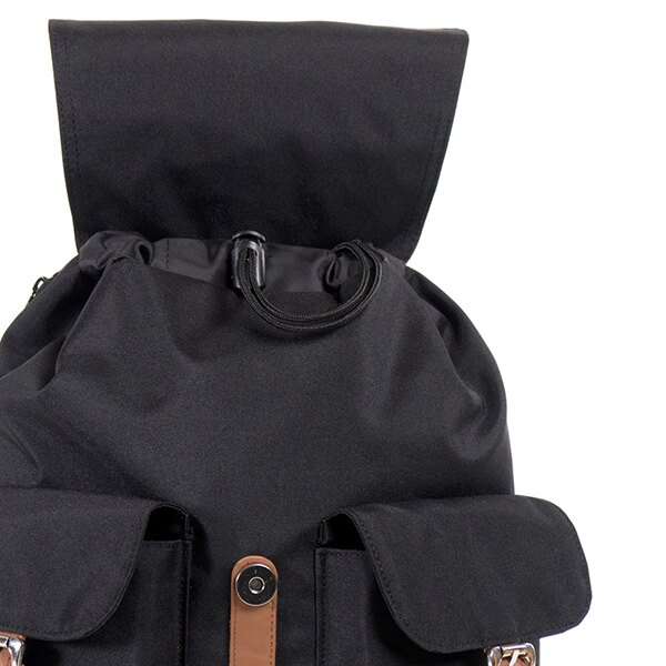 【EST】HERSCHEL DAWSON WMNS 女款 束口 雙口袋 後背包 黑 [HS-0210-797] G0414 4