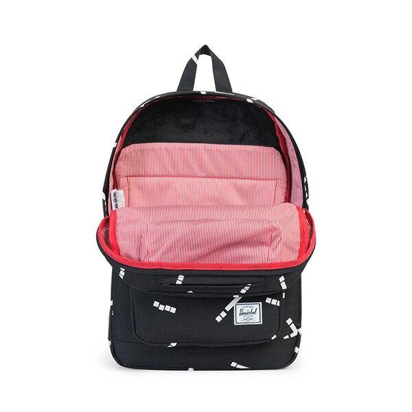 【EST】HERSCHEL POP QUIZ MID 中款 13吋電腦包 後背包 線條 黑 [HS-0211-B44] G0801 1