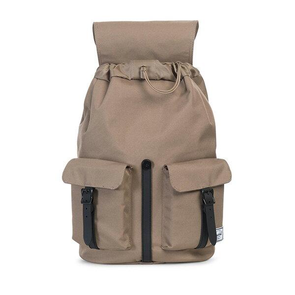 【EST】HERSCHEL DAWSON 束口 雙口袋 後背包 膠條 卡其 [HS-0233-059] G0414 1