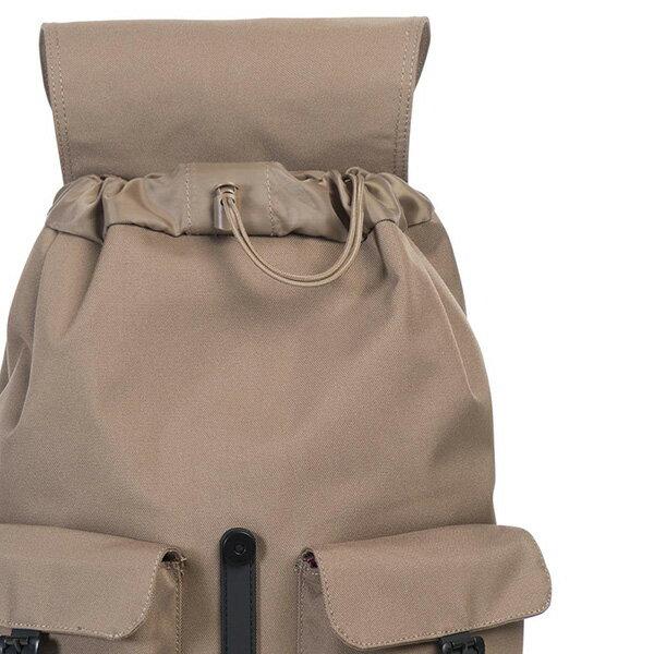 【EST】HERSCHEL DAWSON 束口 雙口袋 後背包 膠條 卡其 [HS-0233-059] G0414 4