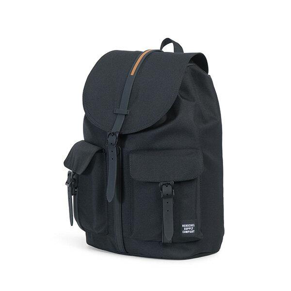 【EST】HERSCHEL DAWSON 束口 雙口袋 後背包 膠條 STUDIO系列 黑 [HS-0233-A94] G0414 2