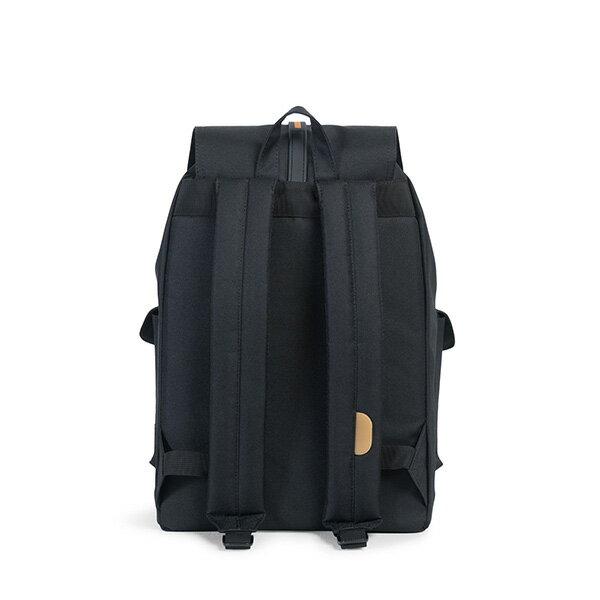 【EST】HERSCHEL DAWSON 束口 雙口袋 後背包 膠條 STUDIO系列 黑 [HS-0233-A94] G0414 3