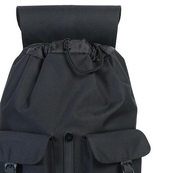 【EST】HERSCHEL DAWSON 束口 雙口袋 後背包 膠條 STUDIO系列 黑 [HS-0233-A94] G0414 4
