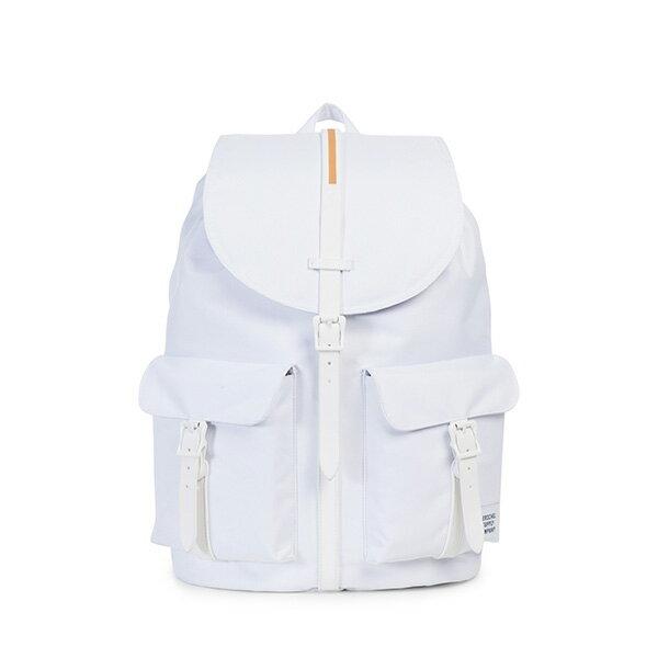 【EST】HERSCHEL DAWSON 束口 雙口袋 後背包 膠條 STUDIO系列 白 [HS-0233-A95] G0414 0