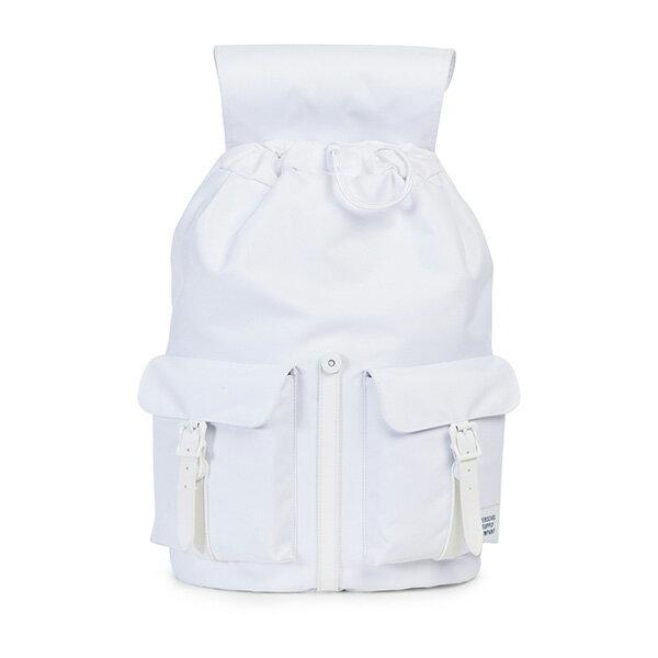 【EST】HERSCHEL DAWSON 束口 雙口袋 後背包 膠條 STUDIO系列 白 [HS-0233-A95] G0414 1