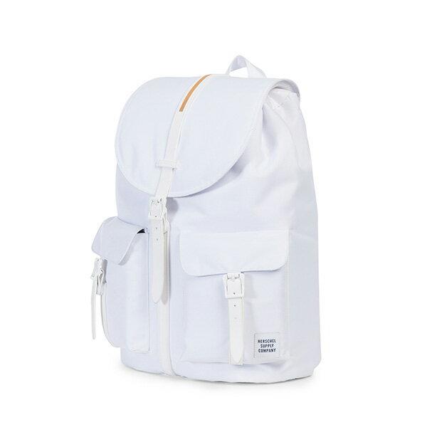 【EST】HERSCHEL DAWSON 束口 雙口袋 後背包 膠條 STUDIO系列 白 [HS-0233-A95] G0414 2