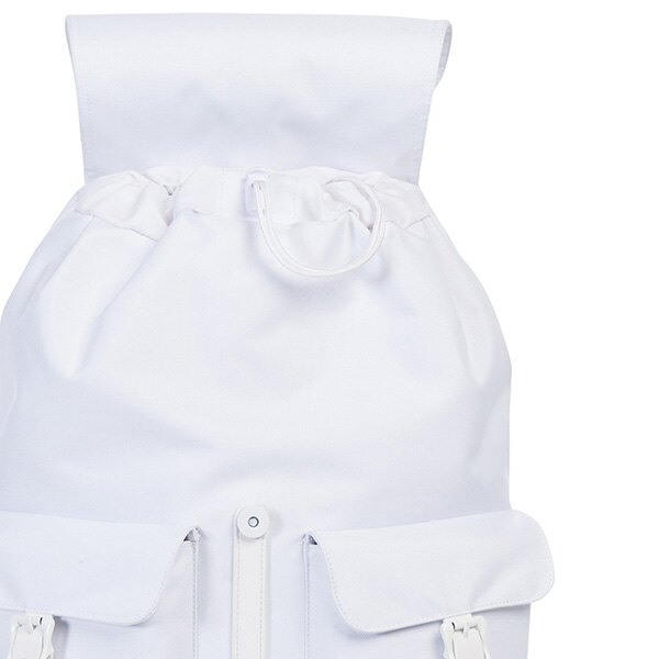 【EST】HERSCHEL DAWSON 束口 雙口袋 後背包 膠條 STUDIO系列 白 [HS-0233-A95] G0414 4