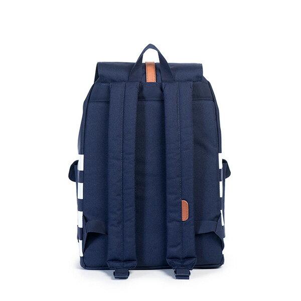 【EST】HERSCHEL DAWSON 束口 雙口袋 後背包 條紋 藍 [HS-0233-903] G0122 3