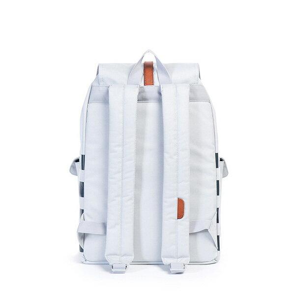 【EST】HERSCHEL DAWSON 束口 雙口袋 後背包 條紋 白 [HS-0233-904] G0122 3
