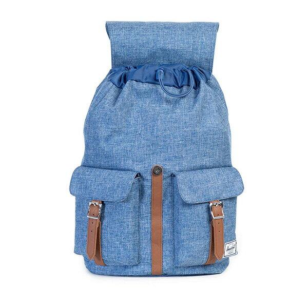 【EST】HERSCHEL DAWSON 束口 雙口袋 後背包 丹寧 藍 [HS-0233-918] G0122 1