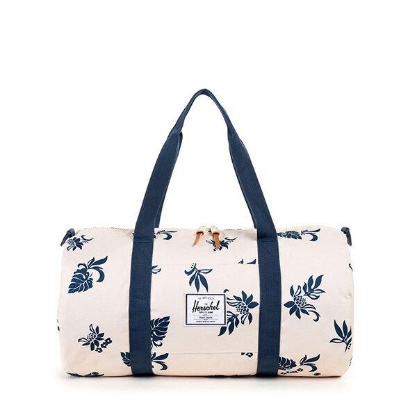 【EST】HERSCHEL SUTTON MID 中款 圓筒 肩背 手提袋 旅行包 花卉 米色 [HS-0251-917] G0122 0