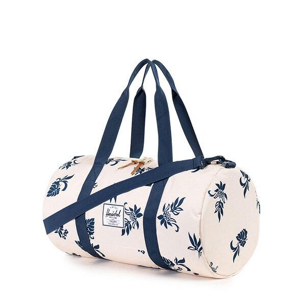 【EST】HERSCHEL SUTTON MID 中款 圓筒 肩背 手提袋 旅行包 花卉 米色 [HS-0251-917] G0122 1