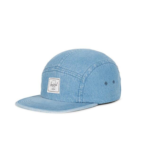 【EST】HERSCHEL GLENDALE 經典款 硬版 後調式 五分割帽 棒球帽 丹寧 淺藍 [HS-1007-171] G0422 0