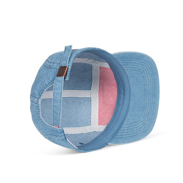 【EST】HERSCHEL GLENDALE 經典款 硬版 後調式 五分割帽 棒球帽 丹寧 淺藍 [HS-1007-171] G0422 2