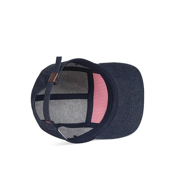 【EST】Herschel Glendale 經典款 硬版 後調式 五分割帽 棒球帽 丹寧 深藍 [HS-1007-172] G0422 2