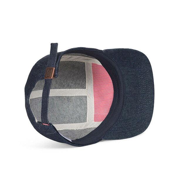 【EST】HERSCHEL GLENDALE 經典款 硬版 後調式 五分割帽 棒球帽 丹寧 深藍 [HS-1007-211] G0815 2