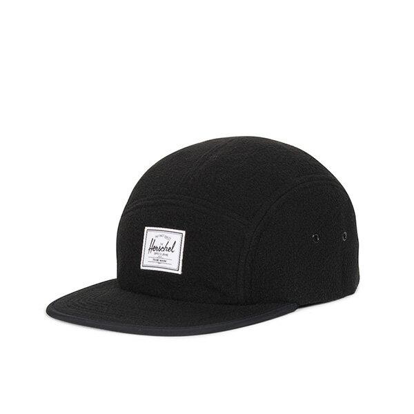 【EST】HERSCHEL GLENDALE 經典款 硬版 後調式 五分割帽 棒球帽 絨布 黑 [HS-1007-216] G0815 0