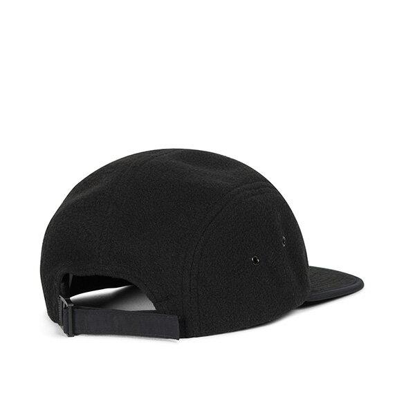 【EST】HERSCHEL GLENDALE 經典款 硬版 後調式 五分割帽 棒球帽 絨布 黑 [HS-1007-216] G0815 1
