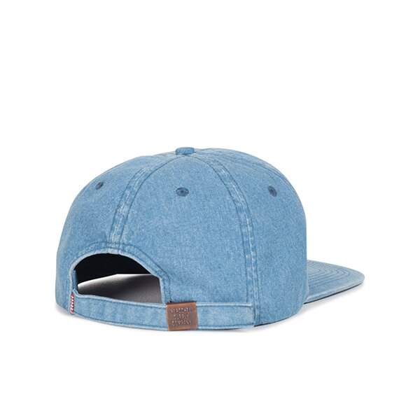 【EST】HERSCHEL ALBERT 後調式 棒球帽 丹寧 淺藍 [HS-1020-171] G0422 1