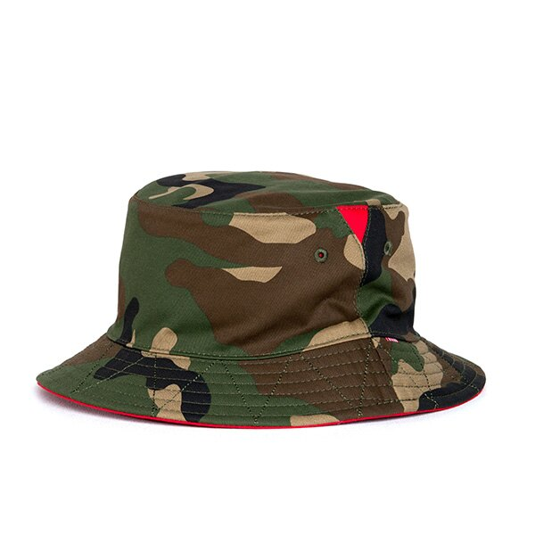 【EST】HERSCHEL LAKE 雙面 漁夫帽 迷彩 紅 [HS-1025-109] G0706 0