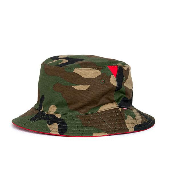 【EST】HERSCHEL LAKE 雙面 漁夫帽 迷彩 紅 [HS-1025-109] G0706
