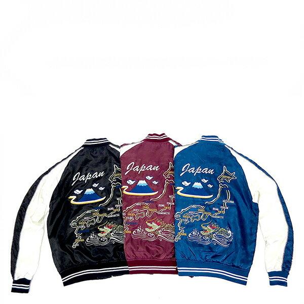 【EST】日本限定 MARUKAWA SUKAJAN 橫須賀刺繡外套 富士山 黑 [JP-0006-002] G1003 0